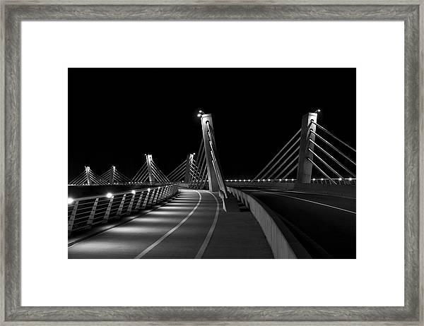Ptuj Bridge Bw Framed Print