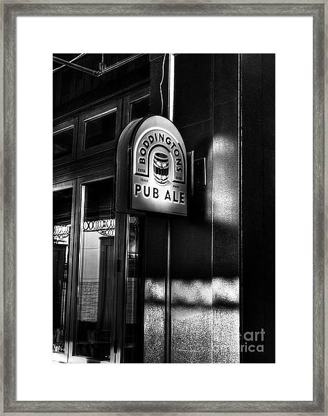 Framed Print featuring the photograph Pub Ale by Mel Steinhauer