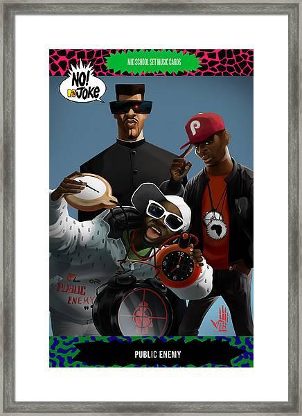 Public Enemy Ntv Card Framed Print