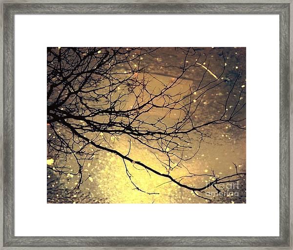 Puddle Art 3 Framed Print