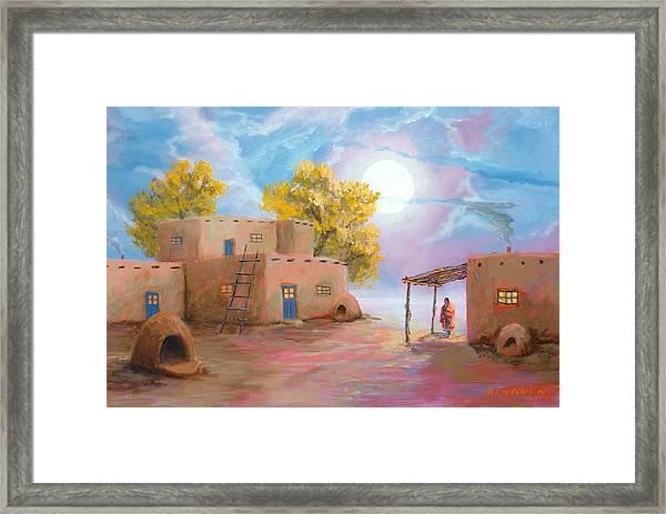Pueblo De Las Lunas Framed Print