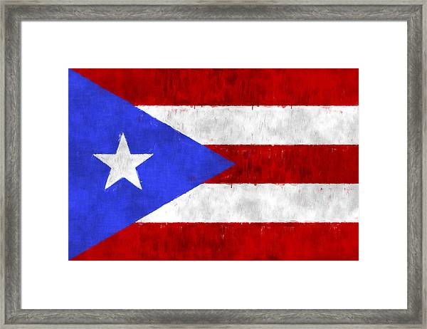 Puerto Rico Flag Framed Print