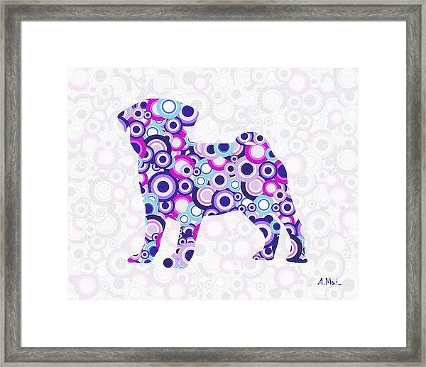 Pug - Animal Art Framed Print