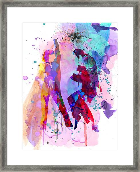Pulp Watercolor Framed Print