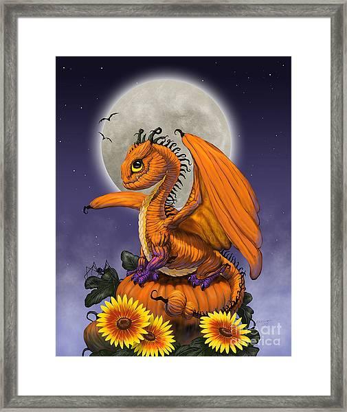 Pumpkin Dragon Framed Print