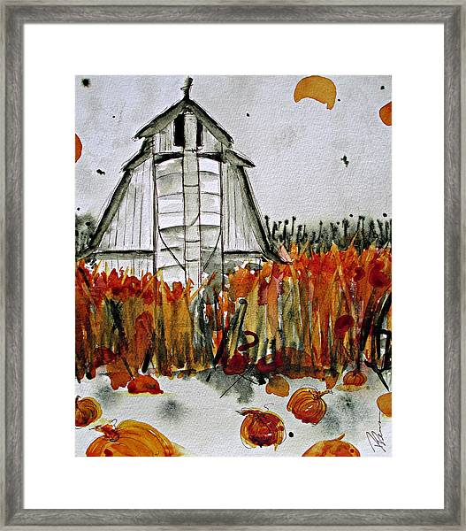 Pumpkin Dreams Framed Print
