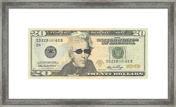 Punk 20 Dollar Bill Framed Print