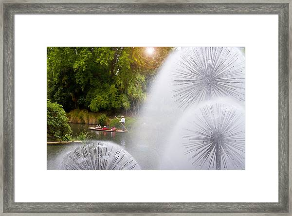 Punting On The Avon Framed Print
