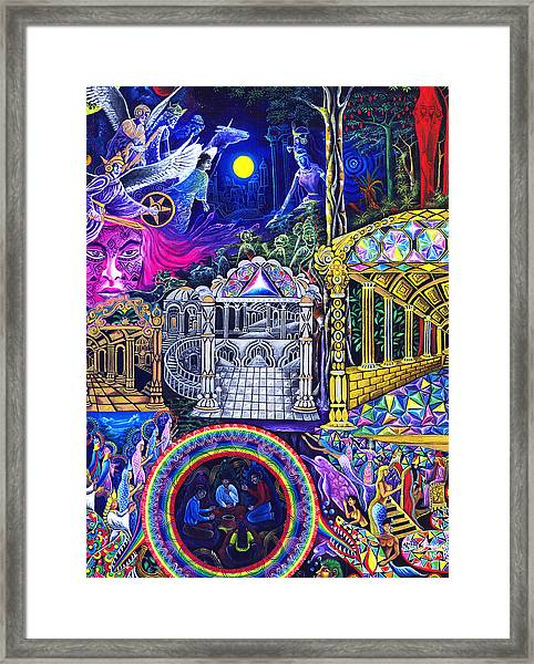 Framed Print featuring the painting Punusca Muscuna by Pablo Amaringo