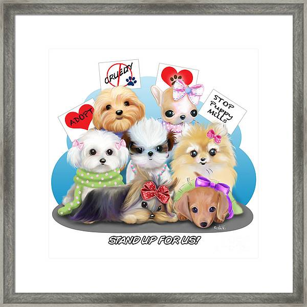 Puppies Manifesto Framed Print