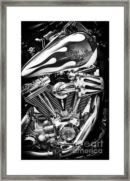 Pure Harley Chrome Framed Print