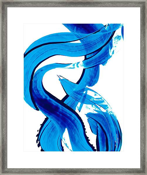 Pure Water 302 - Blue Abstract Art By Sharon Cummings Framed Print