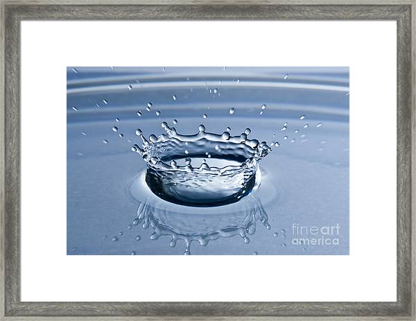 Pure Water Splash Framed Print