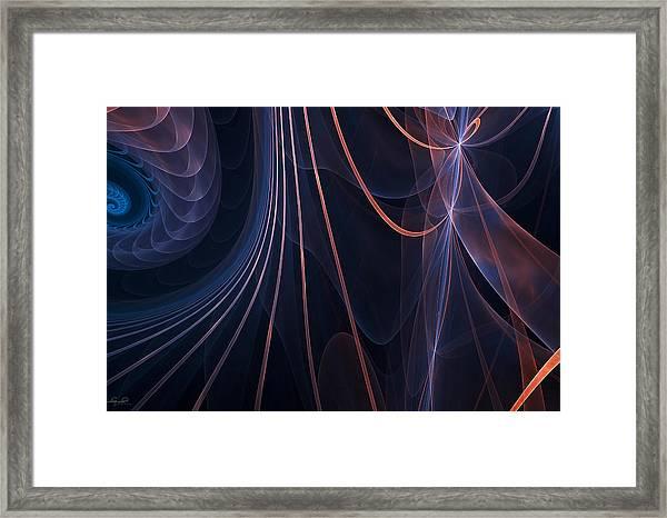 Purple Ablaze Framed Print