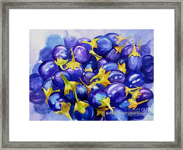 Purple Abundance Framed Print