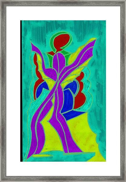 Purple Angel  Framed Print by Ken Gidge