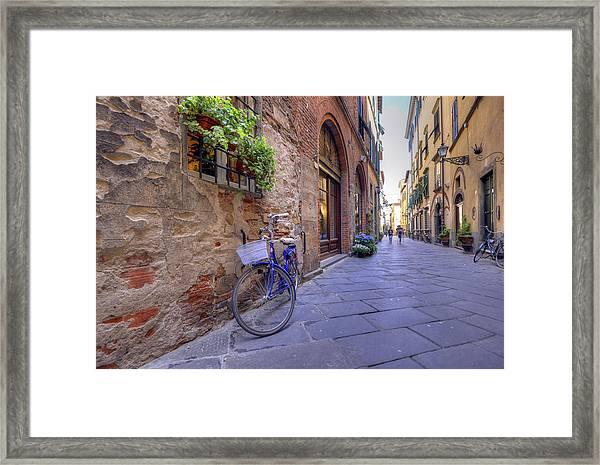Purple Bike Framed Print