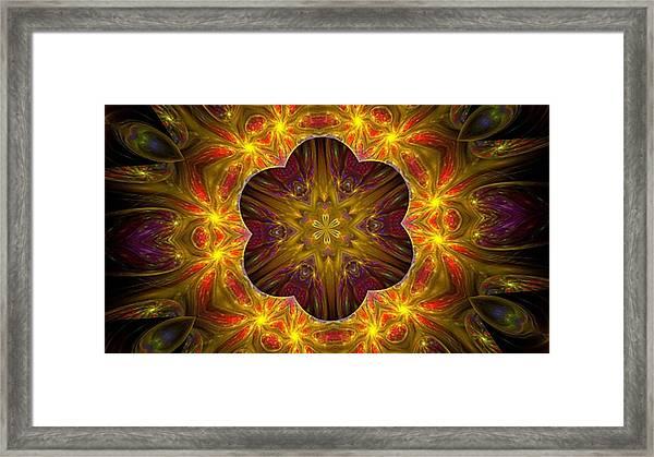 Purple Bliss Kaleidoscope Framed Print