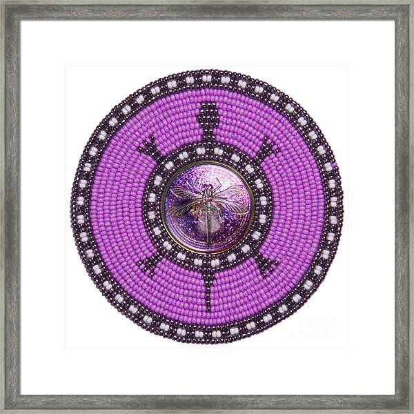 Purple Dragonfly Framed Print