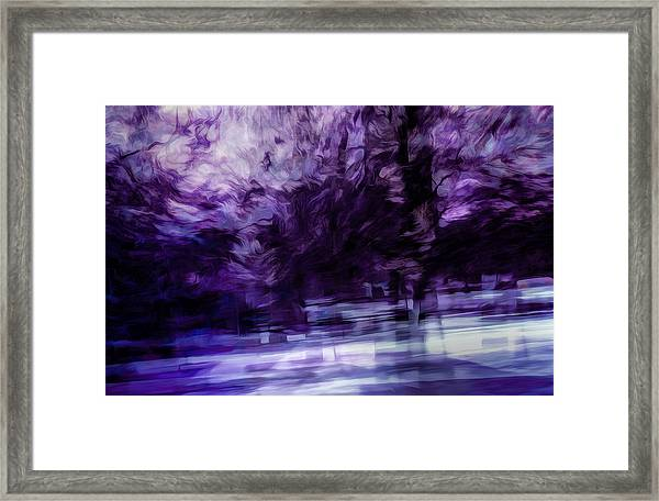 Purple Fire Framed Print