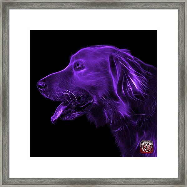 Purple Golden Retriever - 4047 F Framed Print