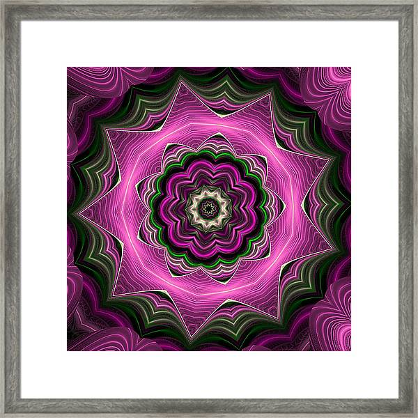 Purple Haze Kaleidoscope Framed Print