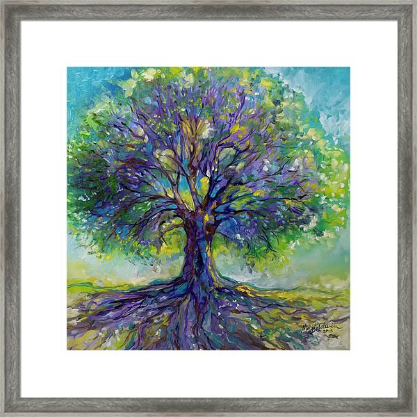 Purple Heart Tree Of Life Framed Print
