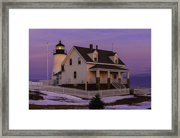 Purple Pemaquid Framed Print