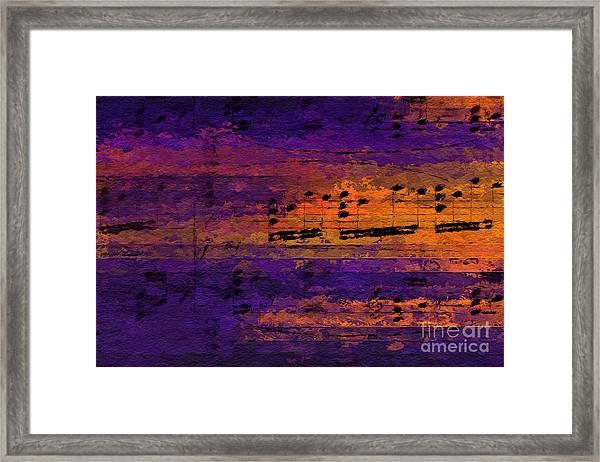 Purple Phrase 2 Framed Print