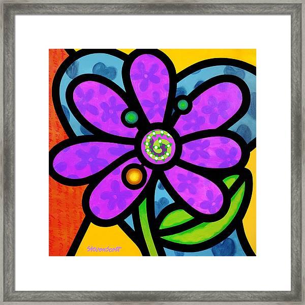 Purple Pinwheel Daisy Framed Print