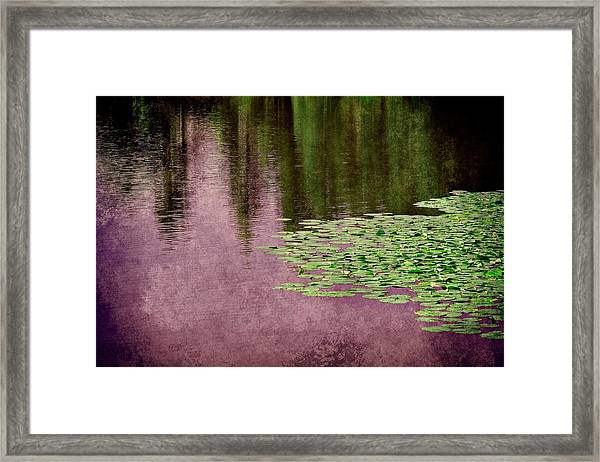 Purple Pond Reflections Framed Print