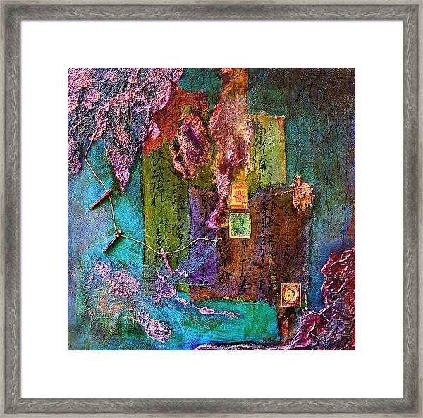 Purple Prose Framed Print
