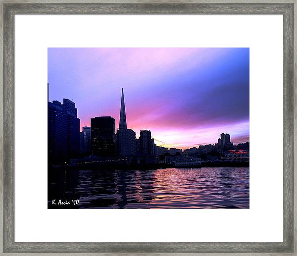 Purple Pyramid Framed Print