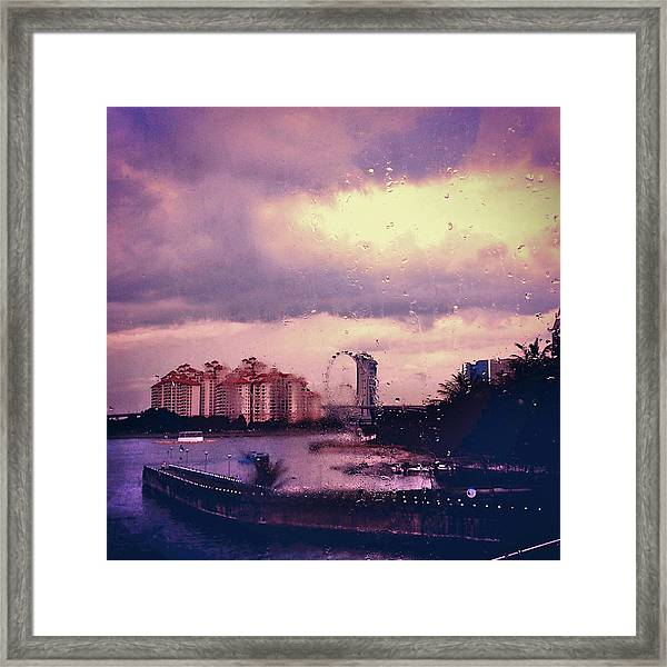 Framed Print featuring the photograph Purple Rain by Yen