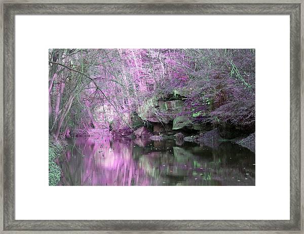 Purple Rock Reflection Framed Print