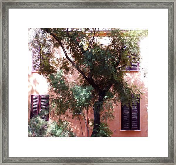 Purple Shutters Framed Print