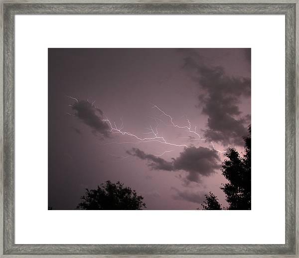 Purple Skies Framed Print
