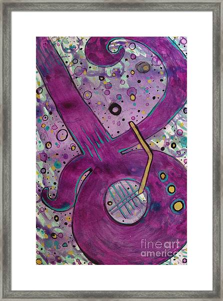 Purple Strings Framed Print