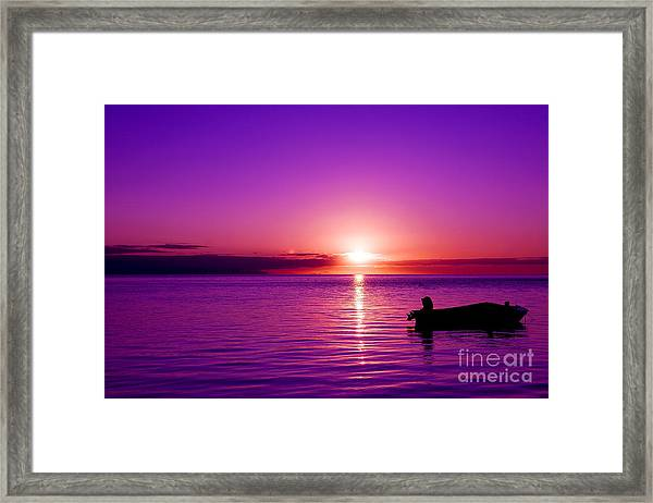 Purple Sunrise Framed Print