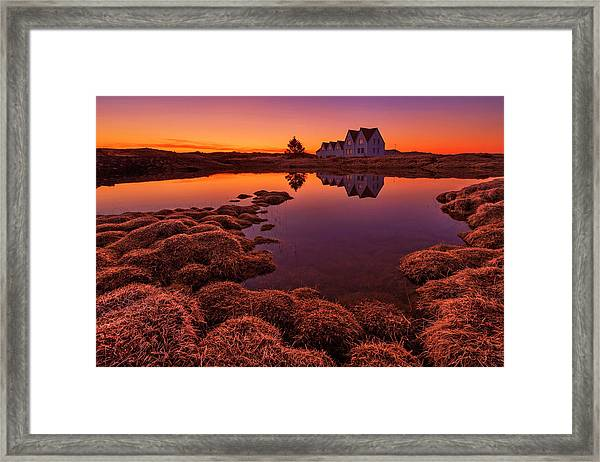 Purple Sunset Framed Print by Bragi Ingibergsson -