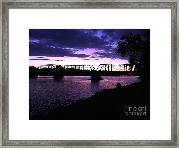 Purple Sunset Framed Print