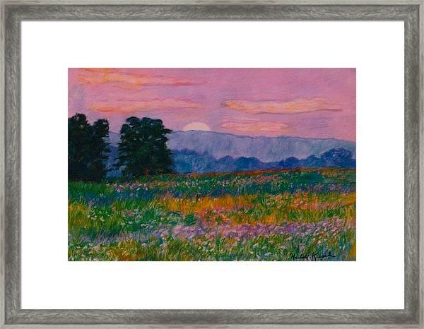 Purple Sunset On The Blue Ridge Framed Print
