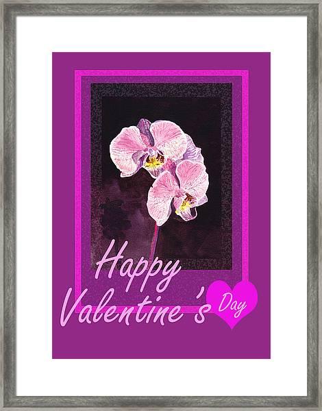 Purple Valentine Framed Print