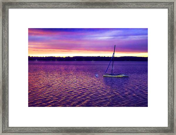 Purple Waters  Framed Print