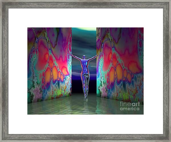 Pushing Boundaries Framed Print by Sandra Bauser Digital Art