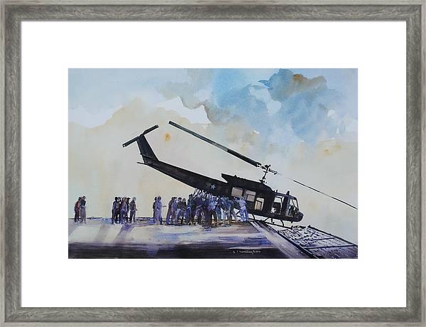 Pushover - South China Sea 1975 Framed Print