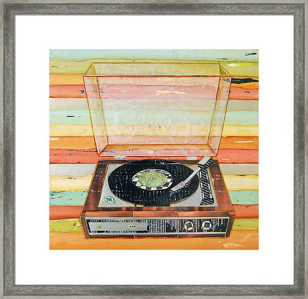 Put A Needle On The Record Framed Print