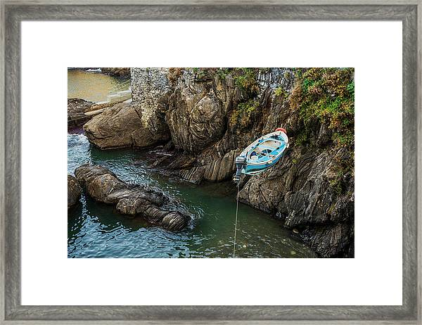 Putting Boat Into Sea Framed Print