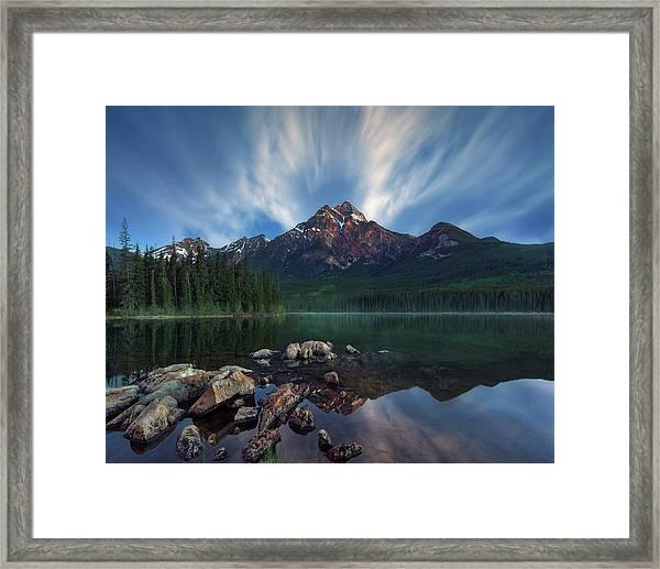 Pyramid Light Framed Print