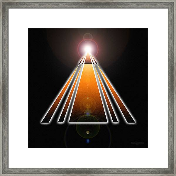 Pyramid Of Light Framed Print